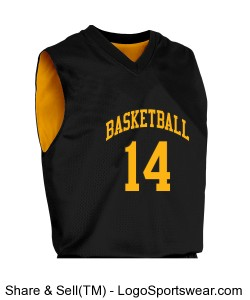 Youth Fadeaway Reversible Basketball Jersey Design Zoom